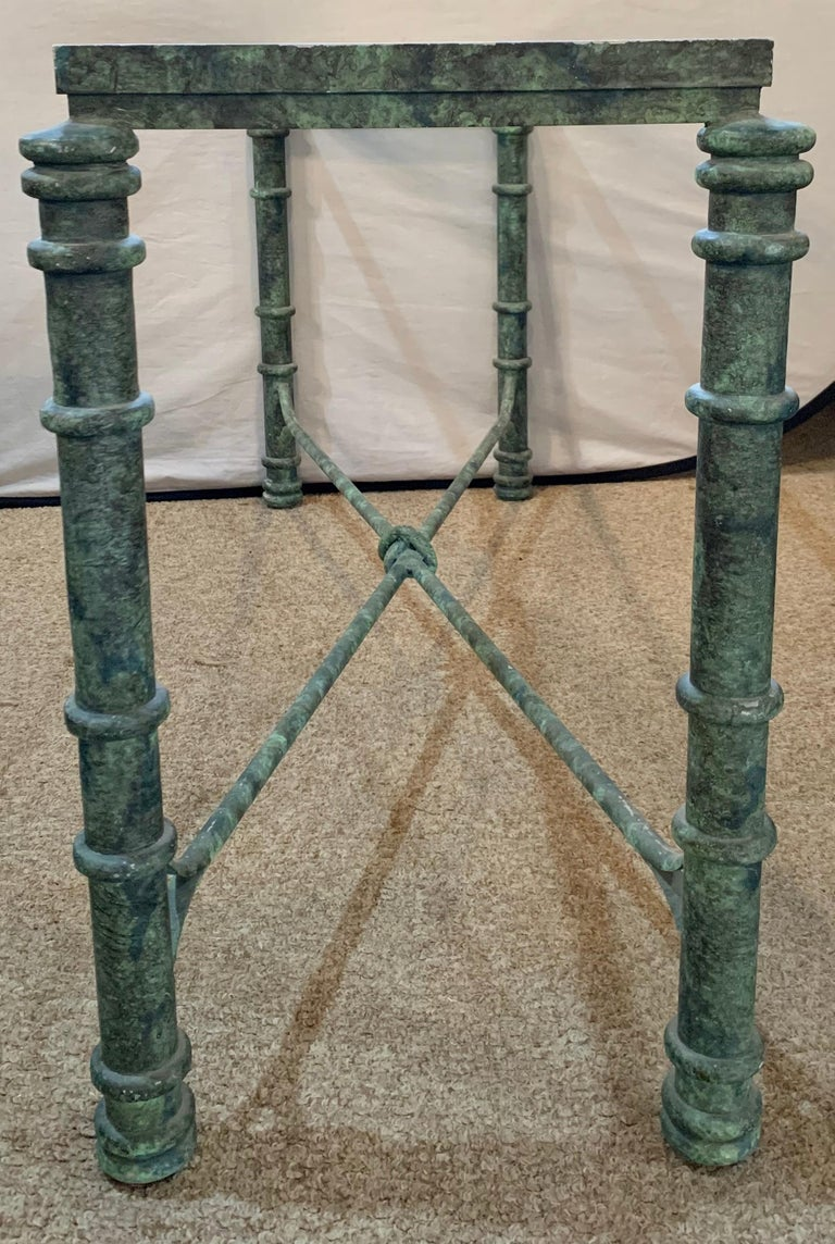 Copper Paint Decorated Console Table For Sale 9