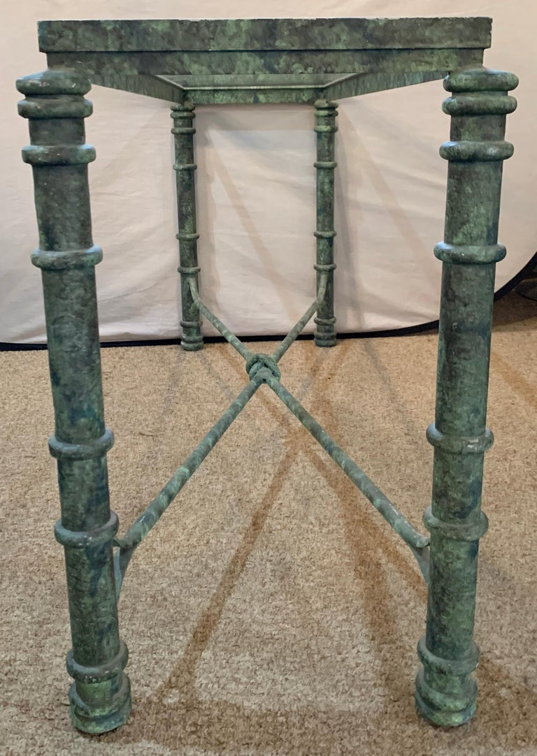 Copper Paint Decorated Console Table For Sale 10