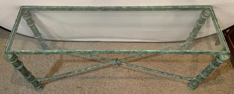 Copper Paint Decorated Console Table In Good Condition For Sale In Stamford, CT