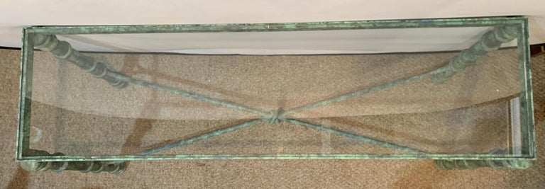 20th Century Copper Paint Decorated Console Table For Sale
