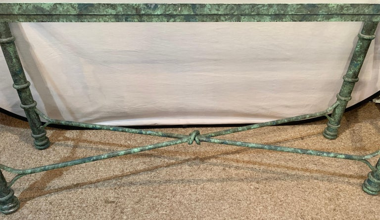 Metal Copper Paint Decorated Console Table For Sale