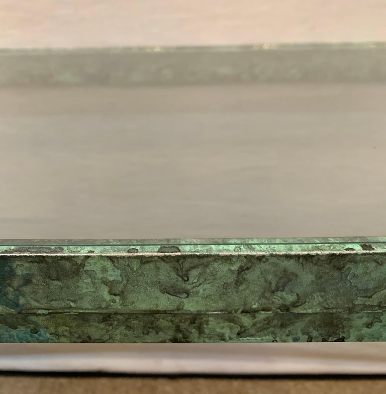 Copper Paint Decorated Console Table For Sale 1