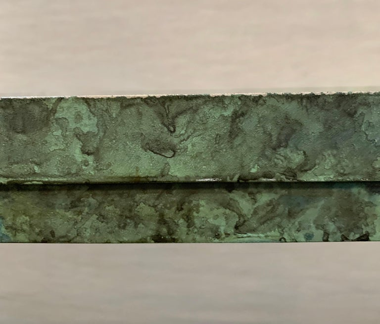 Copper Paint Decorated Console Table For Sale 2