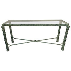 Copper Paint Decorated Console Table