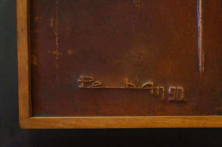 Copper Panel Artwork by Pemba For Sale 1