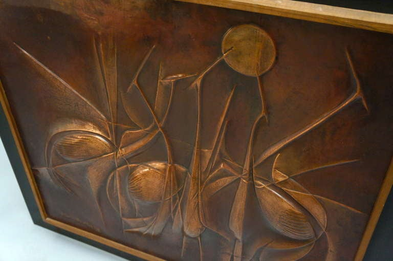 Copper Panel Artwork by Pemba For Sale 2
