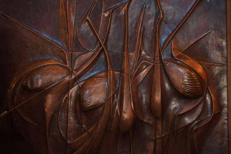 Copper Panel Artwork by Pemba For Sale 3