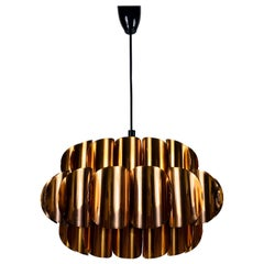 Copper Pendant Lamp by Temde, 1970s