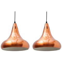 Copper Pendant Lights, Scandinavian Midcentury Design