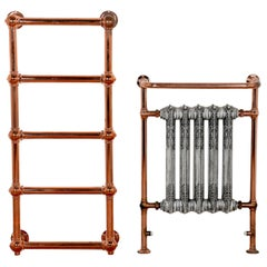 Copper-Plated Radiator and Towel Rail, 20th Century