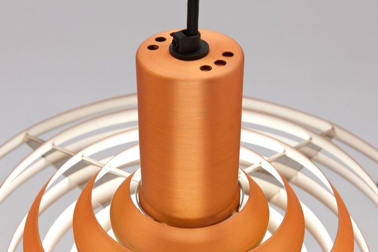 Copper Poul Henningsen, Louis Poulsen Langelinie Plate Lamp, 1958 4