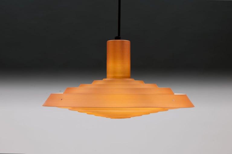 Scandinavian Modern Copper Poul Henningsen, Louis Poulsen Langelinie Plate Lamp, 1958