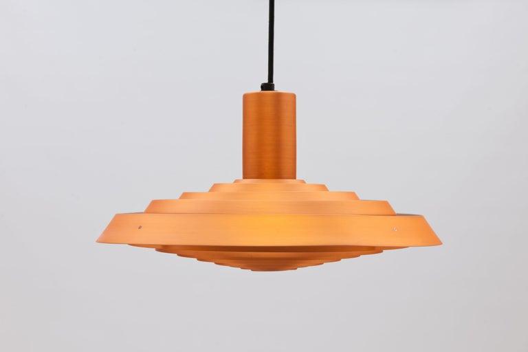 Danish Copper Poul Henningsen, Louis Poulsen Langelinie Plate Lamp, 1958