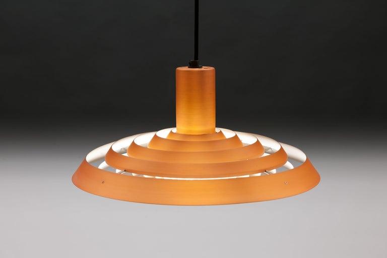 Copper Poul Henningsen, Louis Poulsen Langelinie Plate Lamp, 1958 In Good Condition In Utrecht, NL