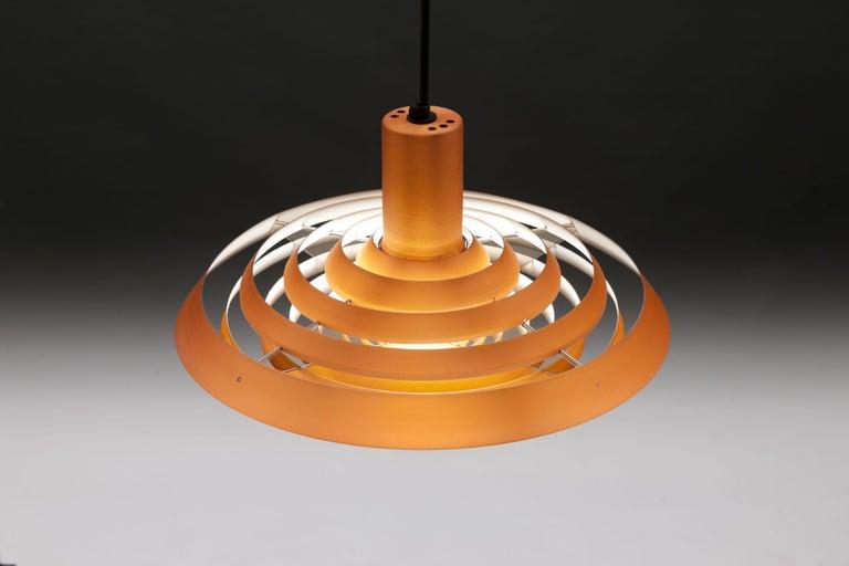 Copper Poul Henningsen, Louis Poulsen Langelinie Plate Lamp, 1958 1