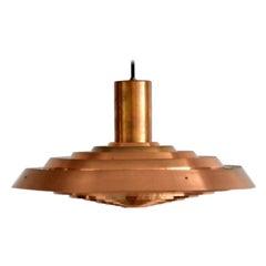 Copper Poul Henningsen PH Tallerken Pendant Lamp by Louis Poulsen Denmark