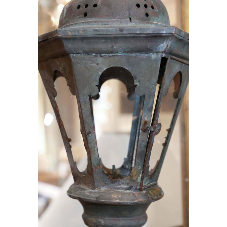 French Provincial Copper Processional Lantern For Sale