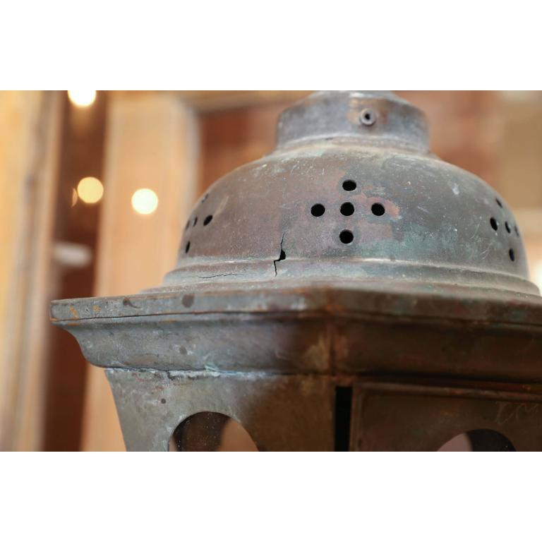 Cast Copper Processional Lantern For Sale