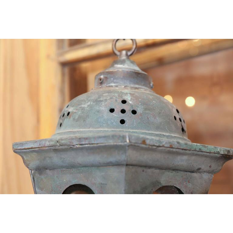 Copper Processional Lantern In Good Condition For Sale In Houston, TX