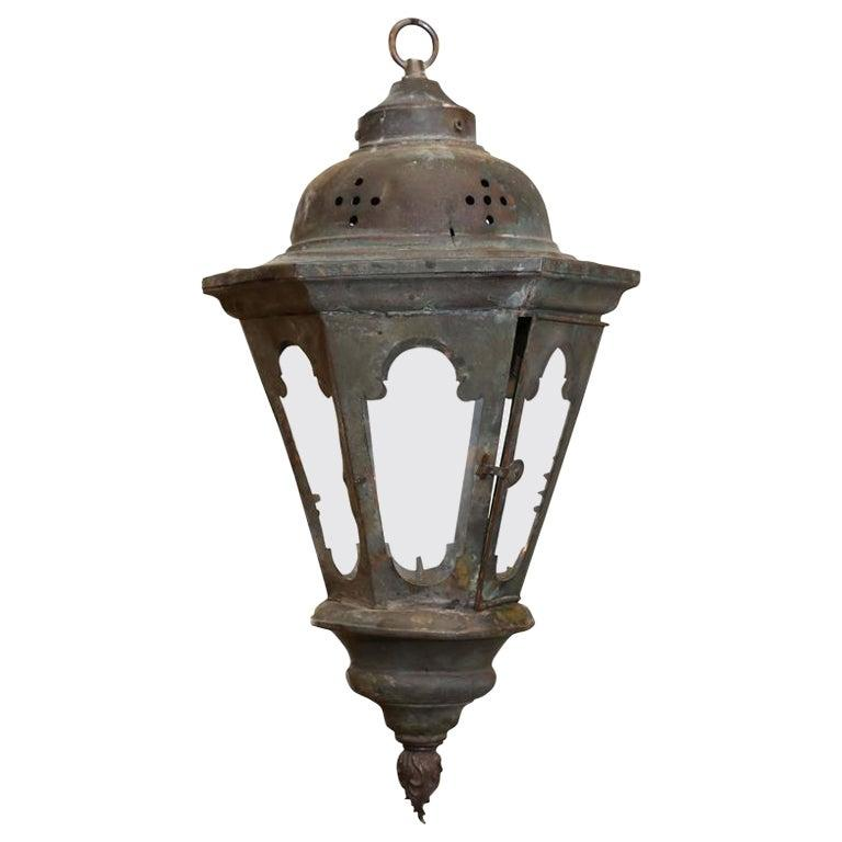 Copper Processional Lantern For Sale