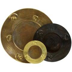 "Copper Repousse Plate 13"" Dia"