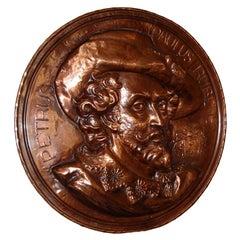 Copper Rondel Plaque of Peter Paul Rubens