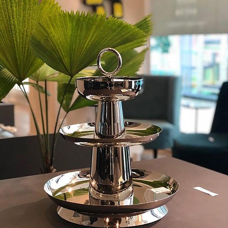 Contemporary Copper Serviteur Muet by Brazilian Designer Brunno Jahara For Sale