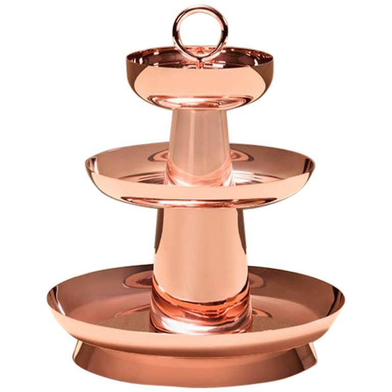 Copper Serviteur Muet by Brazilian Designer Brunno Jahara