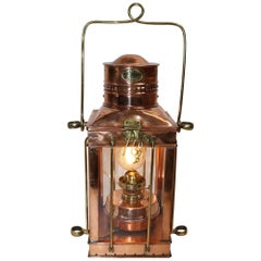 Copper Ships Cabin Lantern by Davey of London