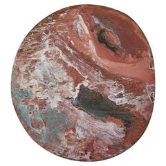 Copper & Stainless Steel Decor/ Plate, 'Star Dust 3.0 #1' by Daishi Luo