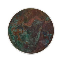 Copper & Stainless Steel Decor/ Plate, 'Star Dust 3.0 #10' by Daishi Luo