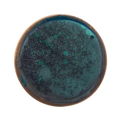 Copper & Stainless Steel Decor/ Plate, 'Star Dust 3.0 #14' by Daishi Luo
