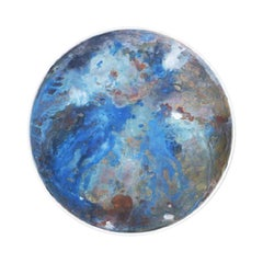 Copper & Stainless Steel Decor/ Plate, 'Star Dust 3.0 #2' by Daishi Luo