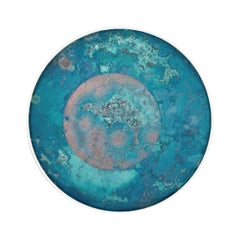 Copper & Stainless Steel Decor/ Plate, 'Star Dust 3.0 #3' by Daishi Luo