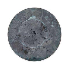 Copper & Stainless Steel Decor/ Plate, 'Star Dust 3.0 #4' by Daishi Luo