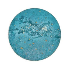 Copper & Stainless Steel Decor/ Plate, 'Star Dust 3.0 #6' by Daishi Luo