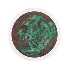 Copper & Stainless Steel Decor/ Plate, 'Star Dust 3.0 #7' by Daishi Luo