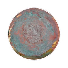 Copper & Stainless Steel Decor/ Plate, 'Star Dust 3.0 #8' by Daishi Luo