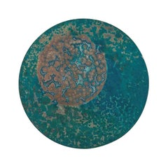 Copper & Stainless Steel Decor/ Plate, 'Star Dust 3.0 #9' by Daishi Luo