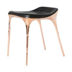 Copper Stool with Back by Valentin Loellmann
