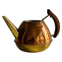 Copper Teak Watering Can, Denmark, 1960s