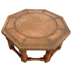 Copper Top Octagonal Coffee Table
