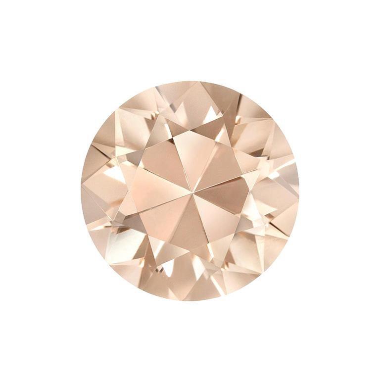 Copper Tourmaline Ring Gem 3.15 Carat Round Unset Loose Gemstone For Sale