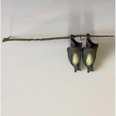 Bat Pair on Branch (Right)