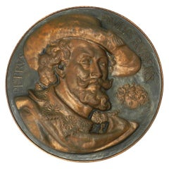 Copper Wall Plaque Peter Paul Rubens Embossed Flemish early 20th Century Baroque