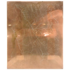 Copper Waterway Map Printing Plate of Winchester, VA