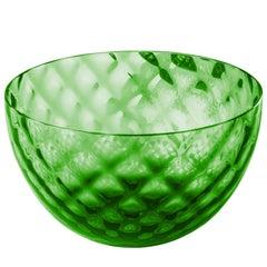Coppetta Carnevale Glass Bowl in Green by Venini