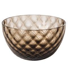 Coppetta Carnevale Glass Bowl in Grey by Venini