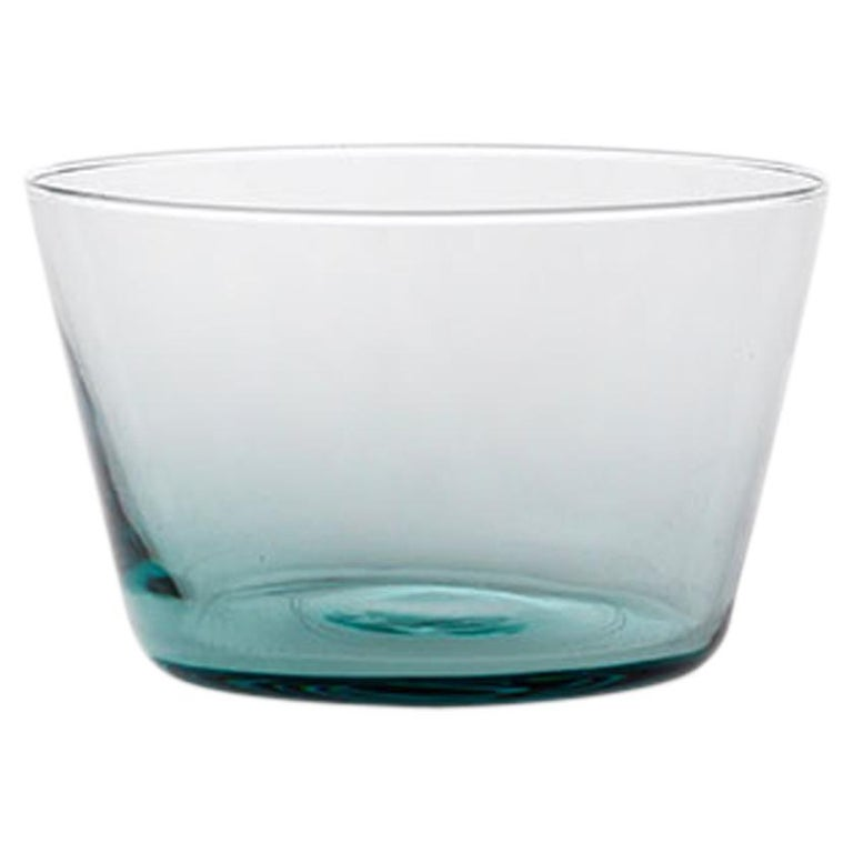 Coppetta, Little Bowl Handcrafted Muranese Glass, Acquamarine Pure MUN by VG For Sale