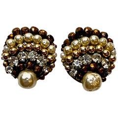 Coppola e Toppo Crystal, Baroque Pearl & Rhinestone Earrings